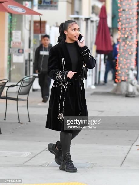 Lori Harvey is seen on December 19 2018 in Los Angeles California