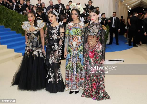 Lori Harvey Natasha Lau Corinne Foxx and Sonia Ben Ammar attend the Rei Kawakubo/Comme des Garcons Art Of The InBetween Costume Institute Gala at...