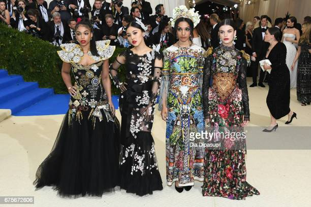Lori Harvey Natasha Lau Corinne Foxx and Sonia Ben Ammar attends the Rei Kawakubo/Comme des Garcons Art Of The InBetween Costume Institute Gala at...