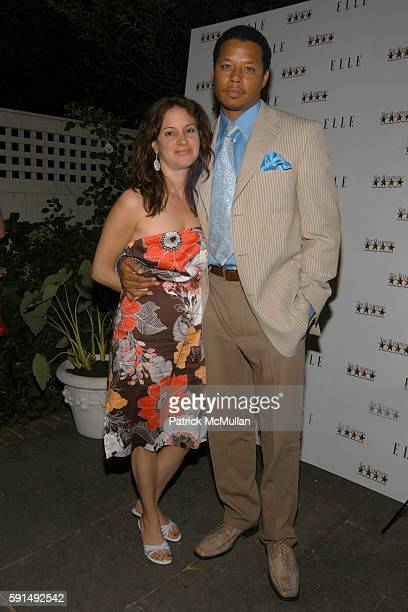 Lori Howard and Terrence Howard attend Hamptons Film Festival and Elle Magazine present a special screening of Hustle Flow at Madame Tong's on June...