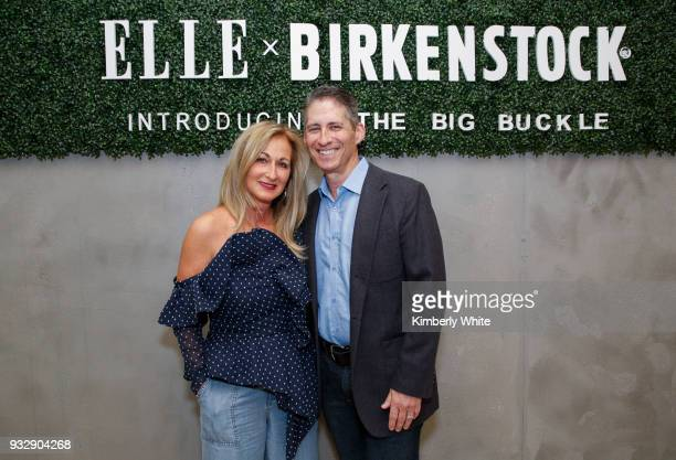 Lori Kahan and David Kahan attend the ELLE and Birkenstock Launch Exclusive PopUp Shop at Nordstrom on March 15 2018 in San Francisco California