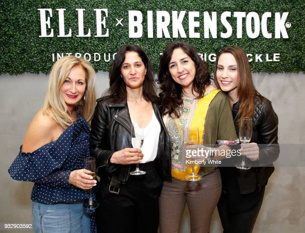 Lori Kahan Sandra Colon Jacqueline Van Dine and Stephanie Militello attend the ELLE and Birkenstock Launch Exclusive PopUp Shop at Nordstrom on March...