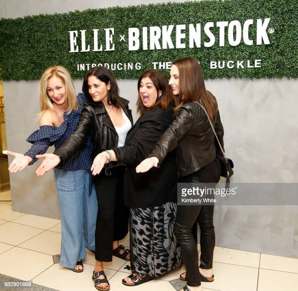 Lori Kahan Sandra Colon Randa Farran and Stephanie Militello attend the ELLE and Birkenstock Launch Exclusive PopUp Shop at Nordstrom on March 15...