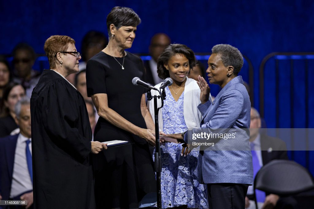 IL: Inauguration Of Lori Lightfoot As Chicago's Mayor