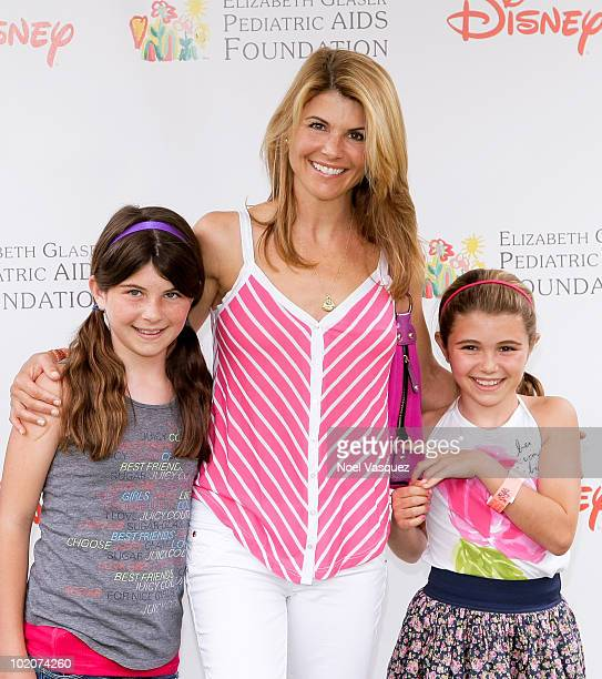 Lori Loughlin and her daughters attend the 21st annual A Time For Heroes celebrity picnic at the Wadsworth Theater on June 13 2010 in Los Angeles...