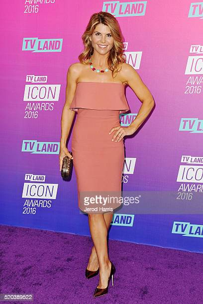 Lori Loughlin arrives at the TV Land Icon Awards at The Barker Hanger on April 10 2016 in Santa Monica California