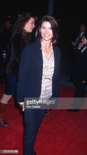 """Lori Loughlin attends """"The People vs. Larry Flynt"""" Premiere at Mann Village Theater in Westwood, California on December 2, 1996."""
