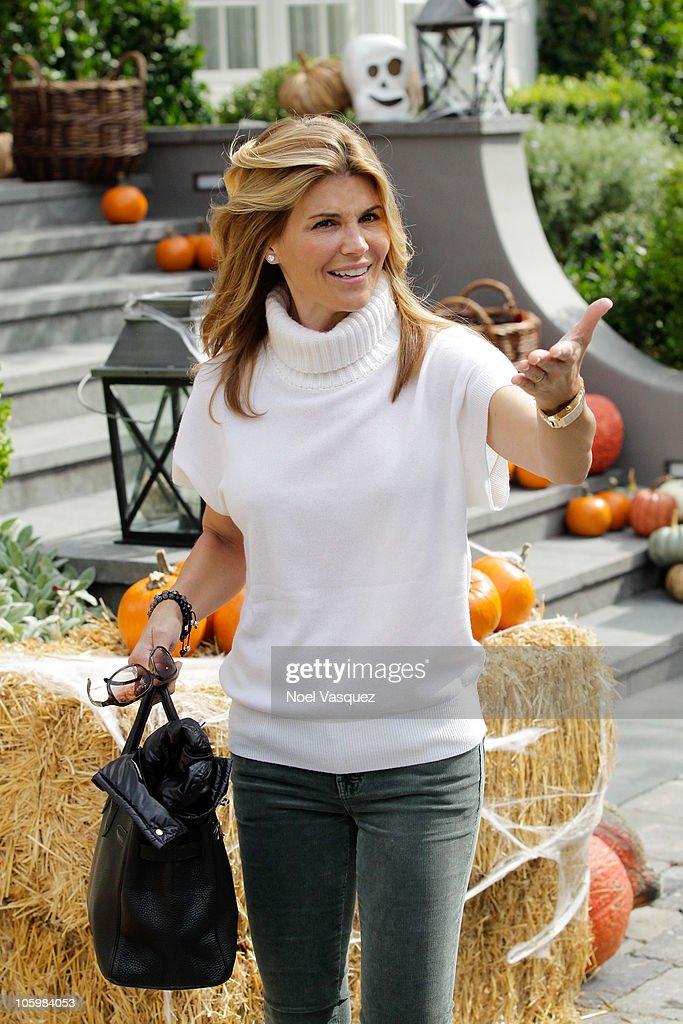 Lori Loughlin Attends The Pottery Barn Kids Halloween