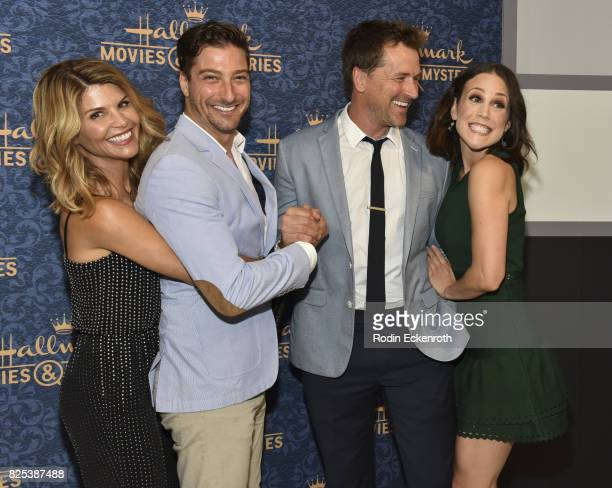 Lori Loughlin Daniel Lissing Paul Greene and Erin Krakow attend the premiere of Hallmark Movies Mysteries' 'Garage Sale Mystery' at The Paley Center...