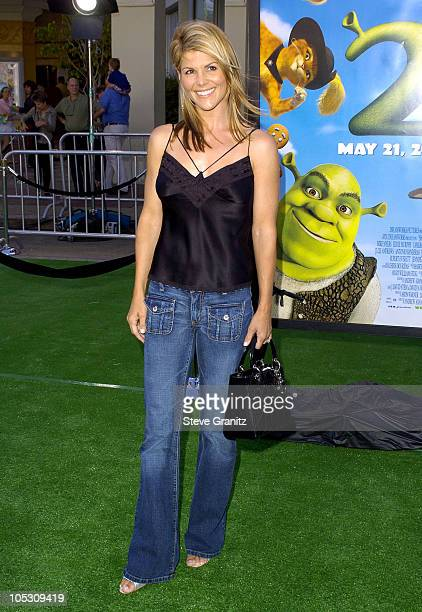 Lori Loughlin during 'Shrek 2' Los Angeles Premiere at Mann Village Theatre in Westwood California United States
