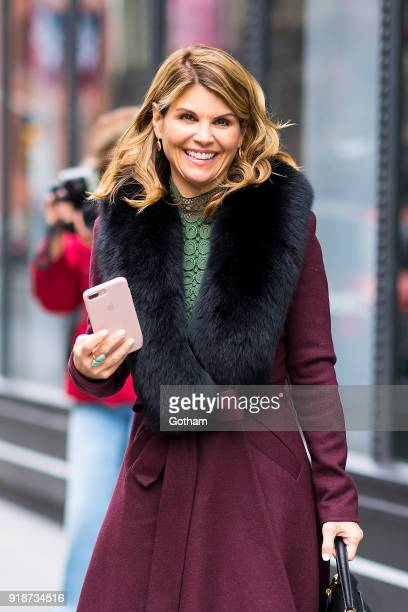 Lori Loughlin is seen in NoHo on February 15 2018 in New York City