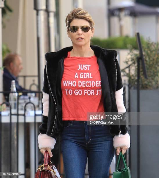 Lori Loughlin is seen on December 31 2018 in Los Angeles California