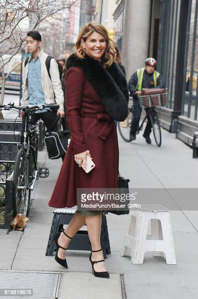 Lori Loughlin is seen on February 15 2018 in New York City