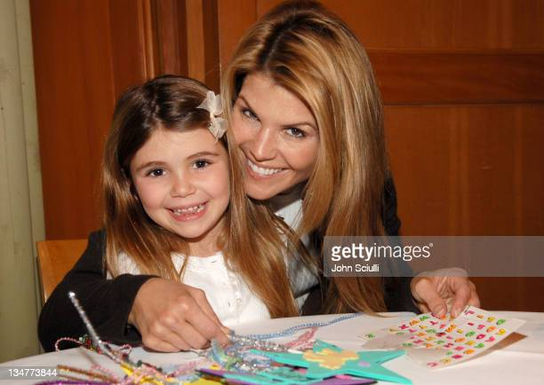 """Lori Loughlin with her daughter Olivia during Los Angeles Premiere of LionsGate's """"Happily N'Ever After"""" Hosted by the Hot Moms Club at The Mann..."""
