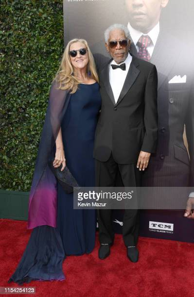 Lori McCreary and Morgan Freeman attend the 47th AFI Life Achievement Award Honoring Denzel Washington at Dolby Theatre on June 06 2019 in Hollywood...