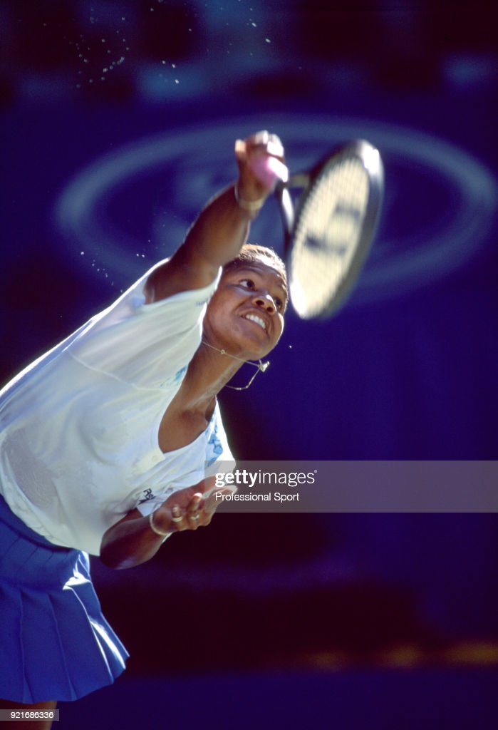Lori McNeil of the USA in action during the Australian Open Tennis Championships at Flinders Park in Melbourne, Australia circa January 1995.