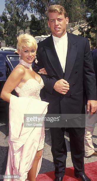 Lori Morgan and Troy Aikman attend 28th Annual Academy of Country Music Awards on May 11 1993 at the Universal Ampitheater in Universal City...