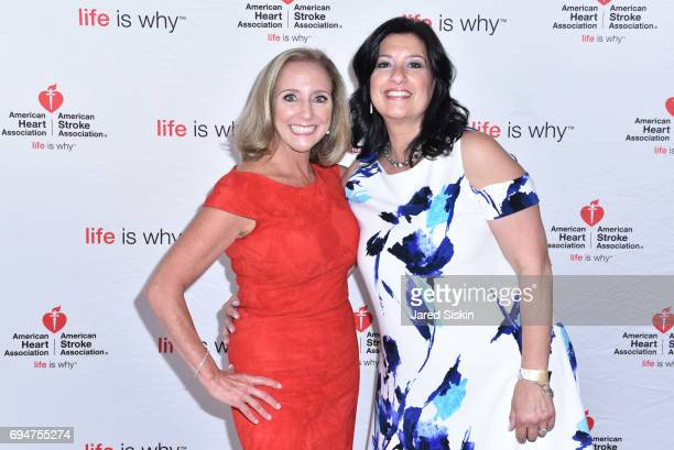 Lori Mosca and Carolyn Yaeger attend the 21st Annual Hamptons Heart Ball at Southampton Arts Center on June 10 2017 in Southampton New York