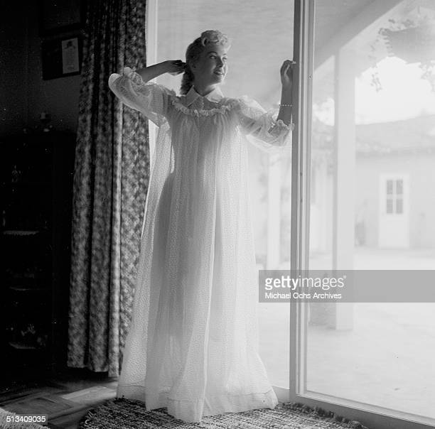 Lori Nelson poses for a portrait at home in Los AngelesCA