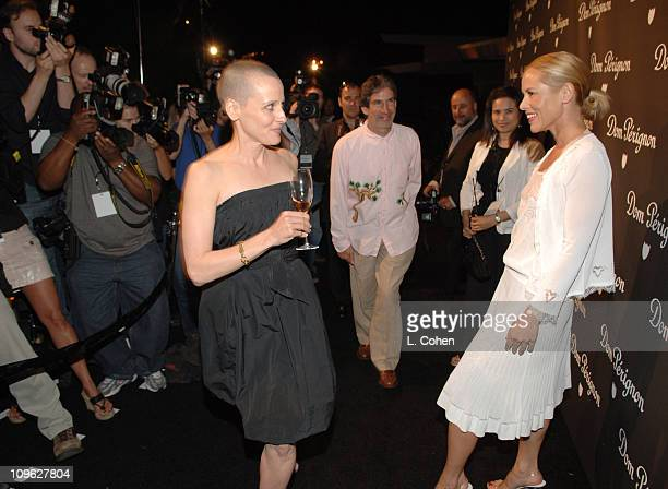 Lori Petty and Maria Bello during Dom Perignon Karl Lagerfeld and Eva Herzigova Host an International Launch Event to Unveil the New Image of Dom...