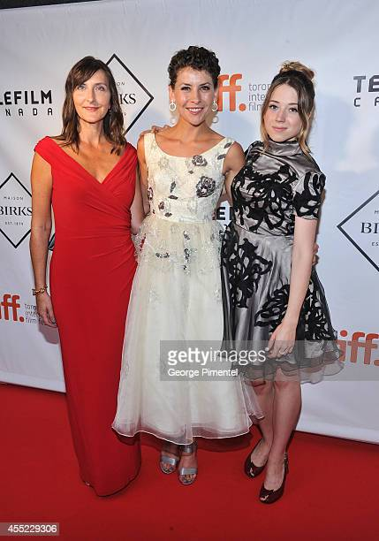 Lori Ravensborg Alana Hawley and Mikaela Cochrane attend the 2nd Annual Birks Diamond Tribute To The Year's Women In Film In Partnership With...