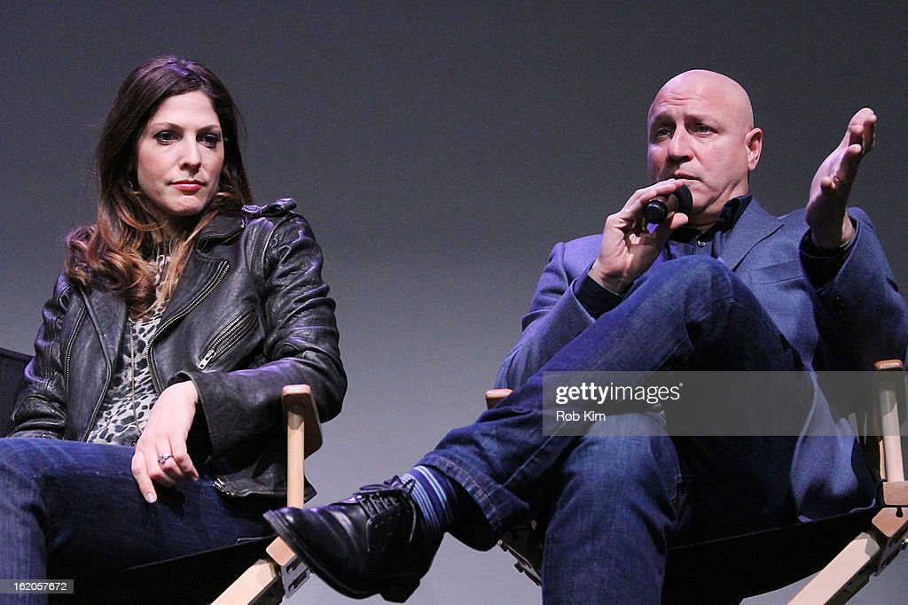Lori Silverbush and Tom Colicchio attend Apple Store Soho Presents: Meet The Filmmakers - 'A Place At The Table' at Apple Store Soho on February 18, 2013 in New York City.