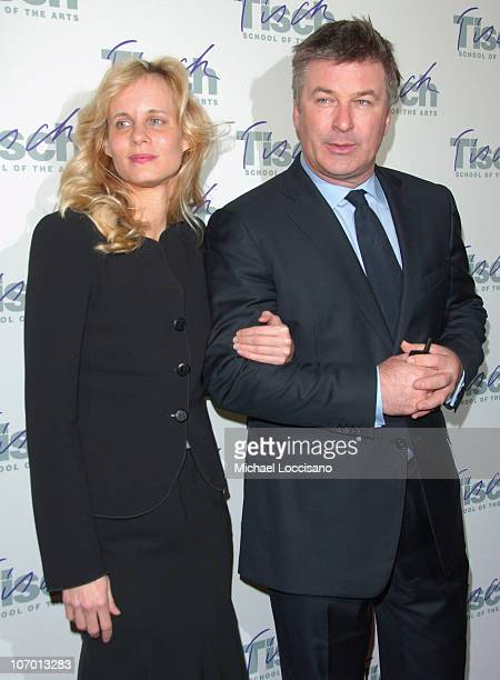Lori Singer and Alec Baldwin during Billy Crystal Hosts Tisch On Broadway Winter Benefit Gala Arrivals Curtain Call and After Party at St James...