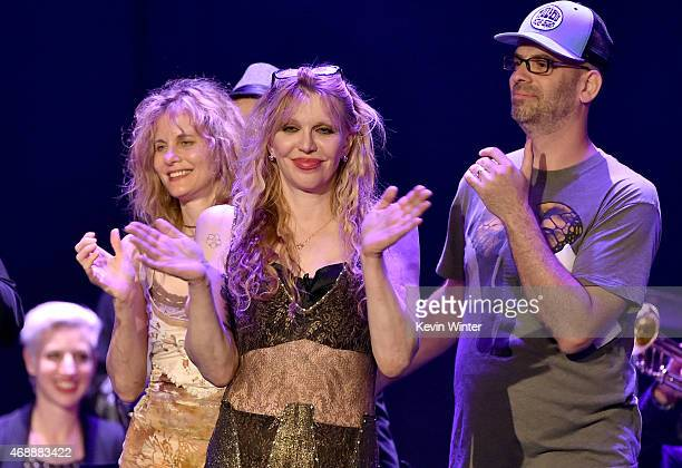 Lori Singer Courtney Love and Adam Dorn aka Mocean Worker attend The David Lynch Foundation's DLF Live Celebration of the 60th Anniversary of Allen...