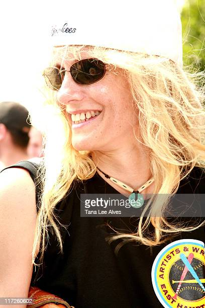 Lori Singer during The 58th Annual Artists and Writers Softball Game to Benefit East End Hospice East End Day Care and The Phoenix House at Herrick...