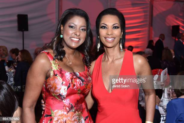 Lori Stokes and Harris Faulkner attend the 21st Annual Hamptons Heart Ball at Southampton Arts Center on June 10 2017 in Southampton New York