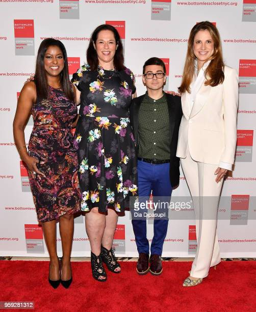 Lori Stokes Melissa Norden Christian Siriano and Nada Stirratt attend the Bottomless Closet's 19th Annual Spring Luncheon on May 16 2018 in New York...