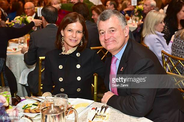 Lori Tritsch and William P Lauder attend Alzheimer's Drug Discovery Foundation Seventh Annual Fall Symposium Luncheon at The Pierre Hotel on November...