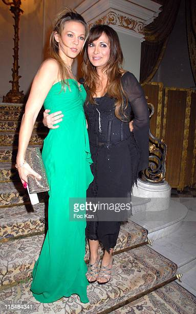 Lorie and Helene Segara during 2006 The Best Awards Ceremony 30th Edition at Royal Monceau Hotel in Paris France