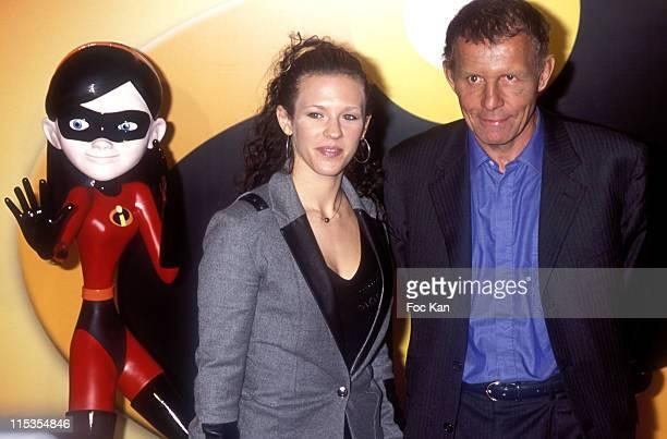 Lorie and Patrick Poivre D'Arvor during 'The Incredibles' Paris Premiere at Grand Rex in Paris France