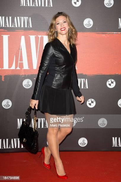 Lorie attends the 'Malavita' premiere on October 16 2013 in RoissyenFrance France