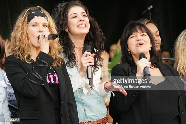 Lorie Nolwenn Leroy and Maurane during Concert pour le Don de Plaquettes to Benefit LauretteFugainorg a Concert Against Leucemia at City Hall in...