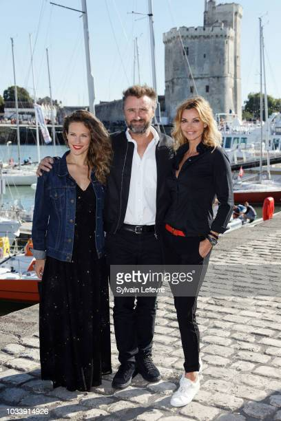 Lorie Pester Alexandre Brasseur and Ingrid Chauvin attend day 4 photocall of 20th Festival of TV Fiction on September 15 2018 in La Rochelle France