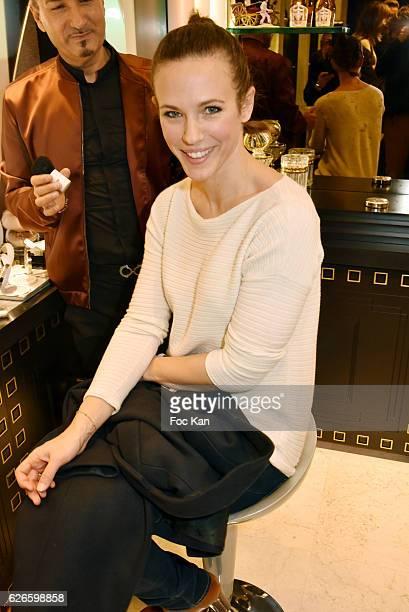 Lorie Pester attends 'Coup de Poudre' Make Up Launch by Caron at Caron Francois 1er Shop on November 29 on 2016 in Paris France