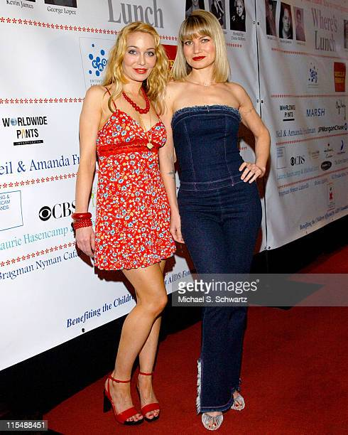 Lorielle New and Rena Riffel during CAAF - A Night of Comedy - April 14, 2007 at The Wilshire Theatre in Beverly Hills, California, United States.