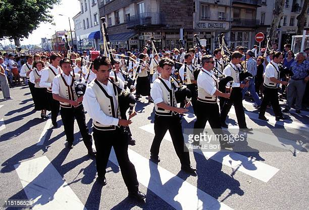 Lorient 'Festival interceltique' in Lorient France on August 04 1996 Celtic Nations Parade