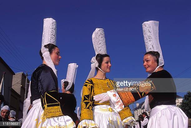 Lorient 'Festival interceltique' in Lorient France on August 04 1996 Bigoudens