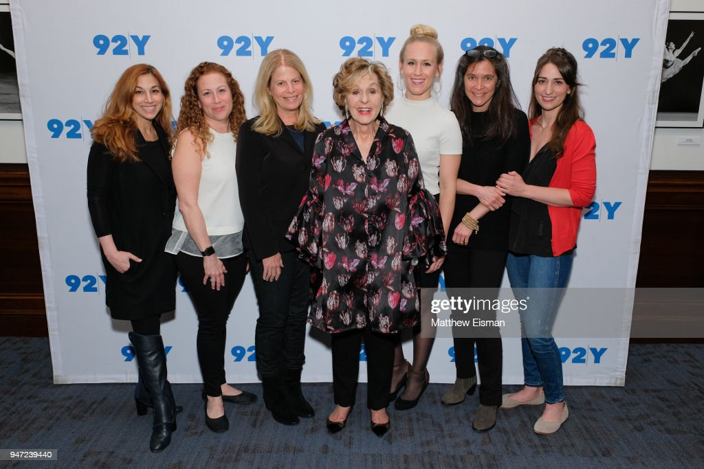 Lorin Latarro, Jodi Picoult, Jessie Nelson, Fran Weissler, Stephanie Torns, Diane Paulus and Sara Bareilles attend 92nd Street Y Presents: The Women Of 'Waitress: The Musical' at 92nd Street Y on April 16, 2018 in New York City.