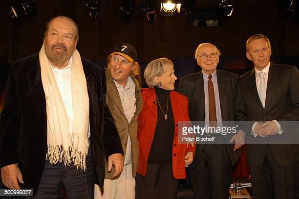 """Loriot , Bud Spencer, Otto, Ilse Wendlandt , Johannes B.Kerner , ZDF-Talkshow """"J.B.K."""", Weilheim, in Oberbayern, Deutschland, , P.-Nr. 473/2006,..."""