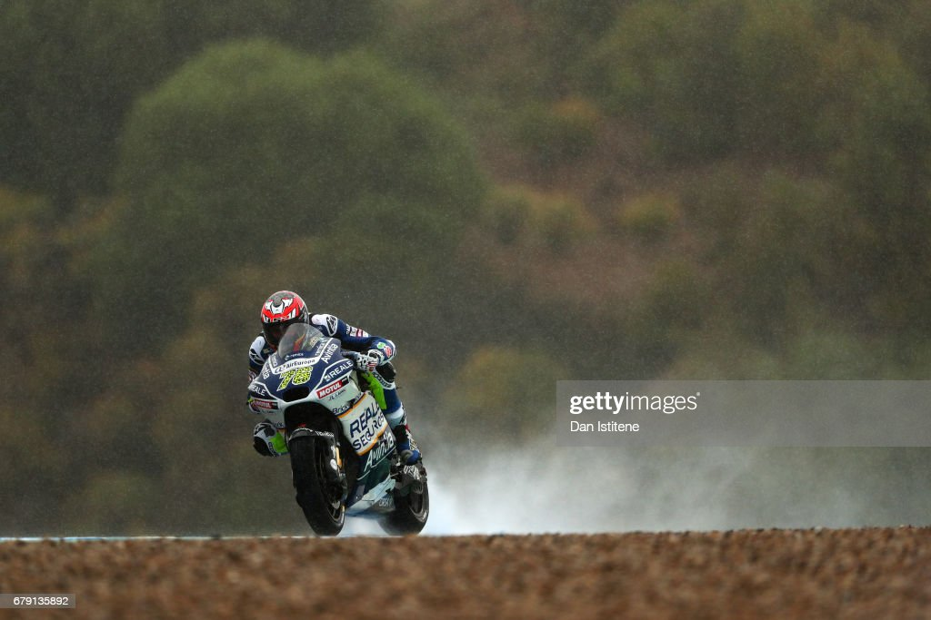 Loris Baz of France and Reale Avintia Racing during free practice for the MotoGP of Spain at Circuito de Jerez on May 5, 2017 in Jerez de la Frontera, Spain.