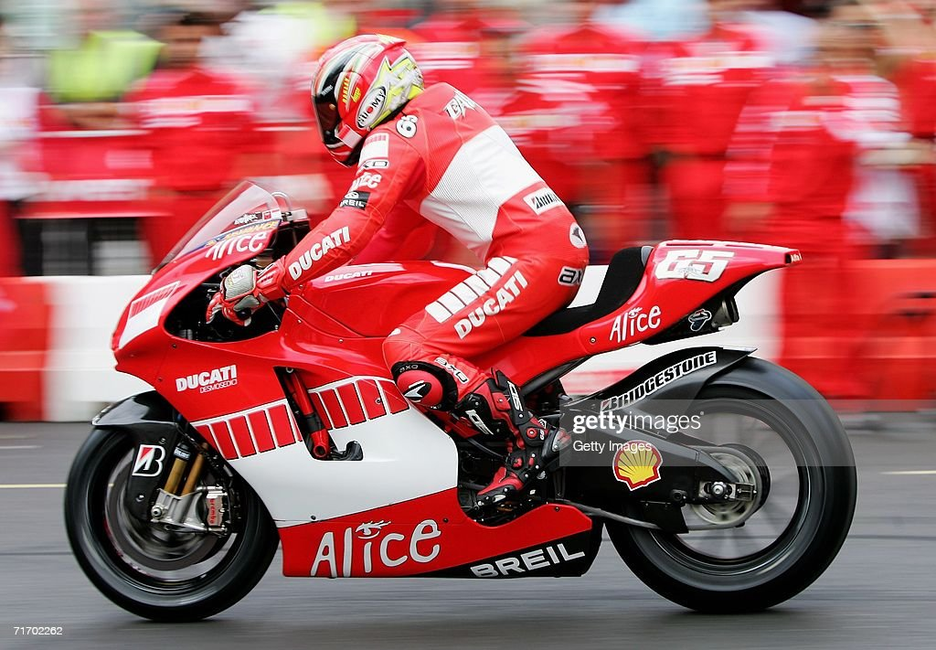 Loris Capirossi Of Italy And Ducati Corse In Action During The Shell