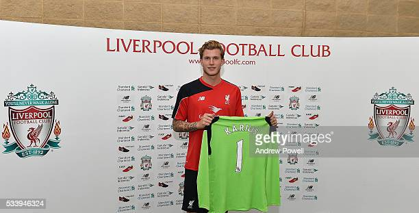 Loris Karius new signing of Liverpool at Melwood Training Ground on May 24 2016 in Liverpool England