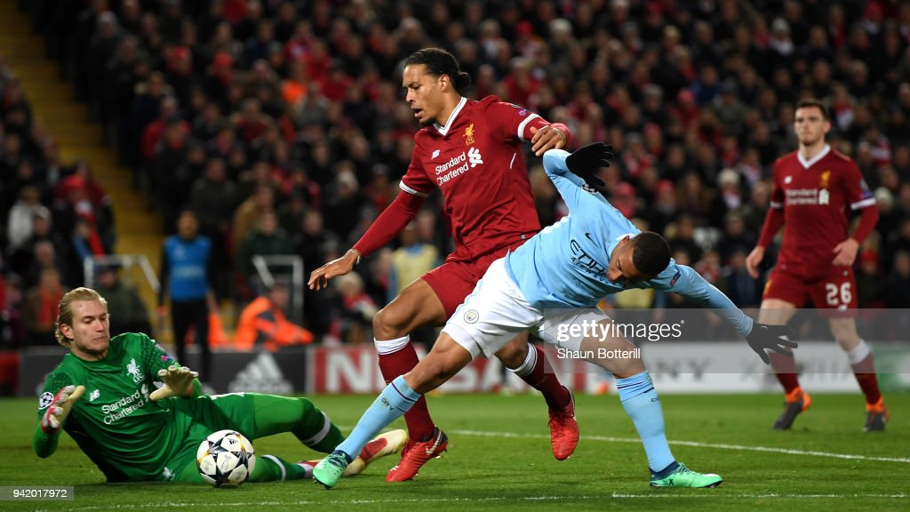 Liverpool v Manchester City - UEFA Champions League Quarter Final Leg One : News Photo