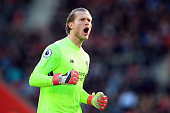 southampton england loris karius liverpool during