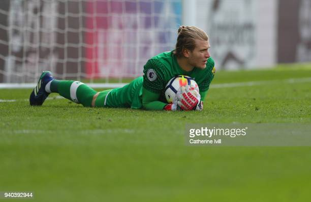 Loris Karius of Liverpool during the Premier League match between Crystal Palace and Liverpool at Selhurst Park on March 31 2018 in London England