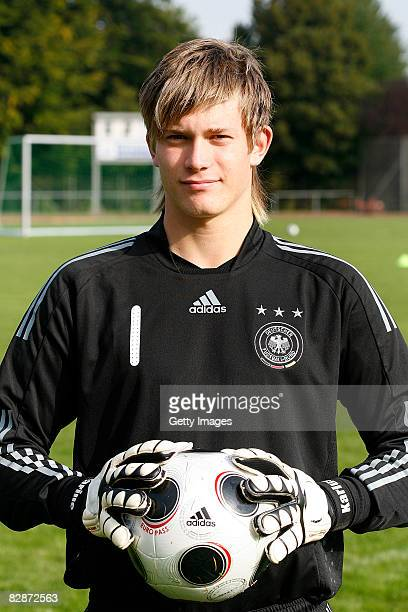 Loris Karius of the U16 German National soccer team poses during a photo call at the Wartberg Stadium on September 15 2008 in Alzey Germany